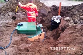 Монтаж станций биологической очистки в поселке Петергофские Предместья